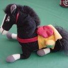 """Mulan Disney Khan Black Horse Beanie Plush 6"""""""