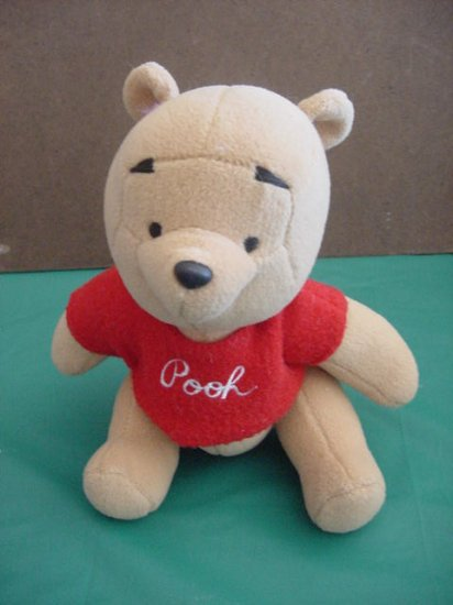 "Winnie the Pooh Bear Disney Jointed Stuffed Plush 6.5"""