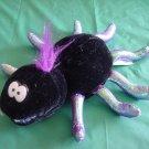 "Shanghai Toys Black Spider Beanie Stuffed Plush 6"" Halloween"