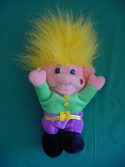 Imperial Toy Co Yellow Hair Troll Stuffed Plush 8""