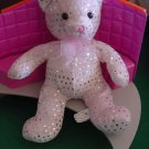 Kuddle Me Toys Pink Silver Spots Bear Stuffed Plush 9""
