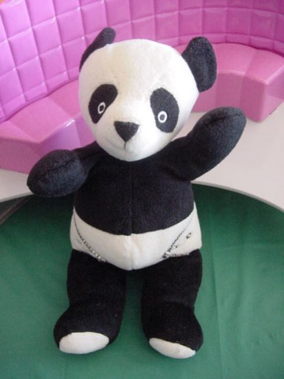 North American Bear Co Panda Diapers Stuffed Plush 8""