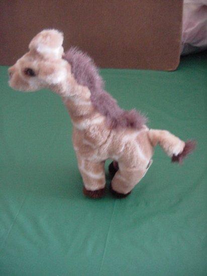 "Plushland Giraffe Brown Cream Stuffed Plush 10"""