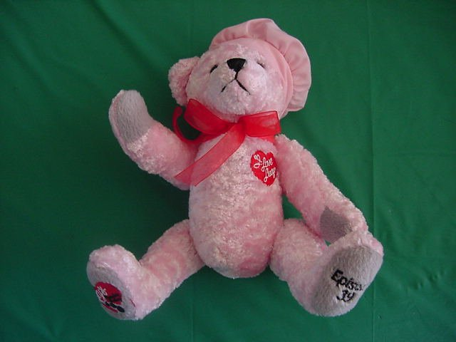 Collecticritters Lucy Ep 39 Pink Bear Stuffed Plush 7""