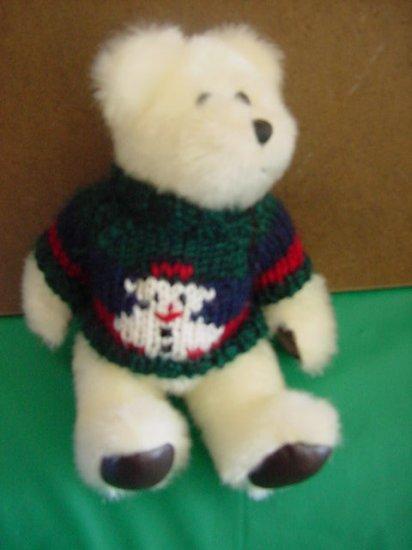 """Holiday Bear Snowman Sweater Stuffed Plush 8"""" Hugfun"""