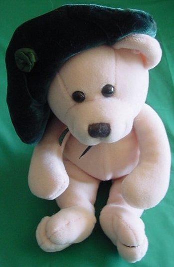 """Fiesta Green Hat Lassies Bear Beanie Stuffed Plush 6"""" TC Dawson"""