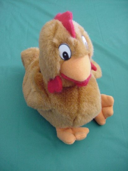 Steven Smith Rooster Chicken Brown Beanie Plush 6""