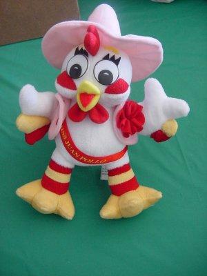 Miss Juan Pollo White Chicken? Rooster Stuffed Plush