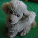 Gray Poodle Dog Fuzzy Stuffed Plush 8""