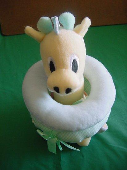 "Kids 2 Giraffe Rattle Activity Rings Stuffed Plush 8"""