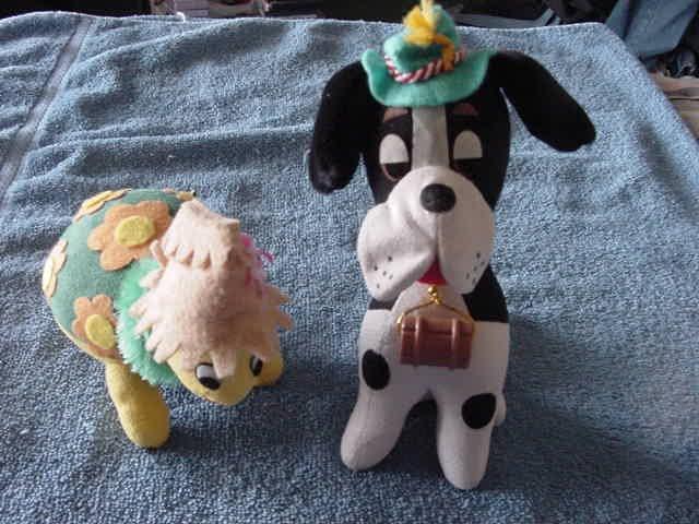 2 Dakin Dream Pets Bernard & Turtle Harry Stuffed Plush