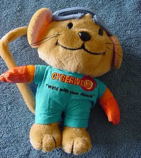 "Cyberweld Mouse Welder Outfit Stuffed Plush 7"" VHTF"