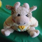 "Easter Cow in Sweater Jointed Stuffed Plush 9"" Hugfun"