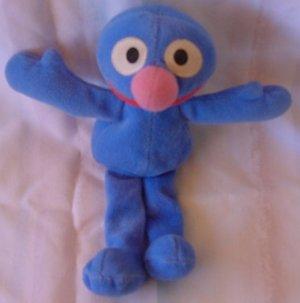 "Sesame Street Grover Beanie Stuffed Plush 8"" Tyco 1997"