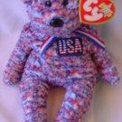 TY Beanie Baby USA Red White Blue Bear Plush W/ Tag