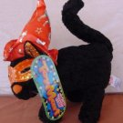 "Sugar Loaf Black Halloween Cat Orange Hat Plush 7"" Tag"