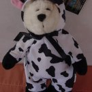 "Toy Works Bear in Cow Suit Stuffed Plush 9.5"" Tilt.com"