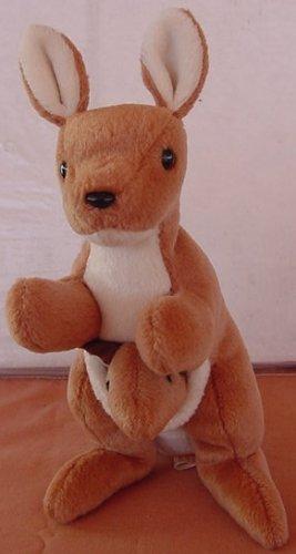 TY Beanie Baby Pouch Kangaroo Stuffed Plush No tag