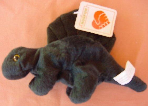 "Hugfun Green Dinosaur Beanie Stuffed Plush Tag 8"""