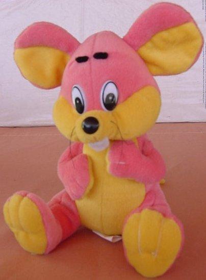 """Kuddle Me Toys Pink & Yellow Mouse Stuffed Plush 7"""""""