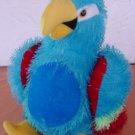 "Plush Appeal Blue Parrot Bird Stuffed Plush 9"" Stringy"