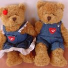 "Plushland Boy & Girl Bear I Love You Beanie Plush 7"" Stuffed"