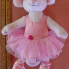 Angelina Ballerina Mouse Bendy Poseable Stuffed Plush 8.5""