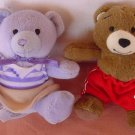 Build a Bear Mini Bears Boy & Girl Stuffed Plush 3.5""