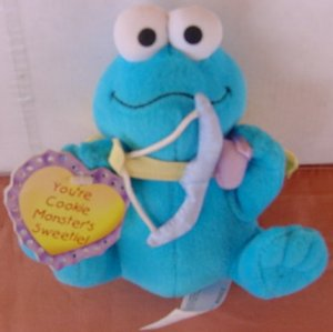 "Cookie Monster Sweetie Cupid Stuffed Plush 5"" Tag"