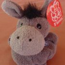 "Fiesta Gray Donkey Fatty Beanie Stuffed Plush 4"" Tag"