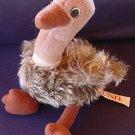 "Gund Baby Ostrich Beanie Stuffed Plush 5.5"" Cute Fuzzy"