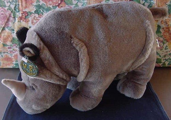 """King Plush Kuddles Gray Rhino Stuffed Plush 12"""" Soft"""