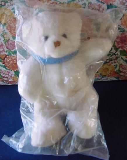 "Little Brownie Originals White Bear Stuffed Plush 10"""