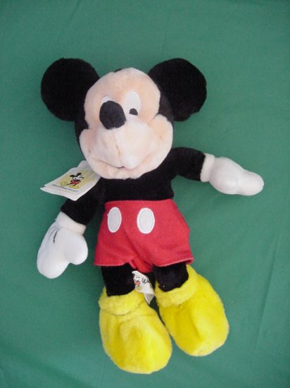 "Mickey Mouse Disney World Bean Bag Plush 9"" Soft"