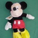 "Mickey Mouse Disney World Bean Bag Plush 9"" Soft"