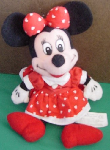 Minnie Mouse Red & White Heart Dress Beanie Plush