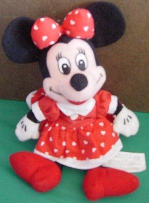 Minnie Mouse Red & White Heart Dress Beanie Plush