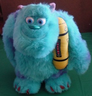 "Monsters Inc Sulley Snoring Light Up Plush 14"" Disney"
