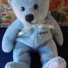 """Blue Aquarius Zodiac Bear Beanie Stuffed Plush 5"""" Cute"""