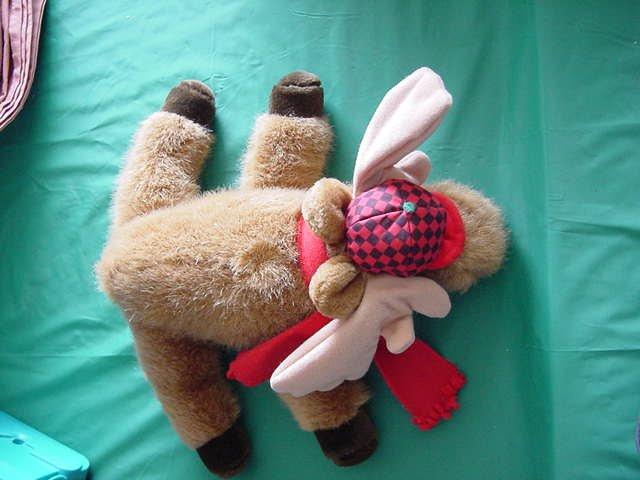 """Dakin Winter Moose in Hat Scarf Stuffed Plush 10"""" 1992"""