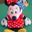 """Disney Minnie Mouse Soft Red Dress Stuffed Plush 8"""" Tag"""