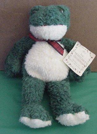 "Russ Berrie Fribbit Frog Tag Stuffed Plush 10"" Cute"