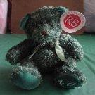 "Russ Berrie Green Noel Bear Stuffed Plush Target 6"""