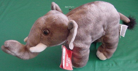 "Fiesta Gray Elephant Tusks Stuffed Plush 7.5"" Tag"
