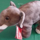 "Fiesta Gray Elephant Tusks Stuffed Plush 7.5"" Tag"