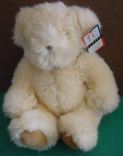 "Fiesta TC Dawson Sitting Bear Cream Stuffed Plush 8"""
