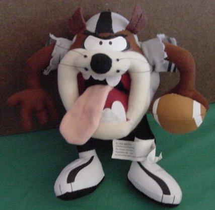 """Football Player Taz Tasmanian Devil Stuffed Plush 8"""""""