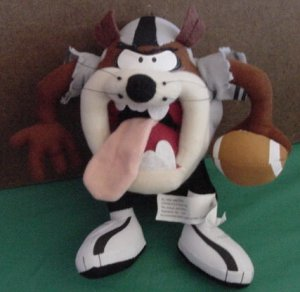 Football Player Taz Tasmanian Devil Stuffed Plush 8""