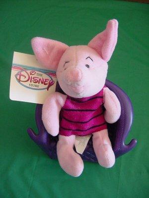 "Pooh Piglet Stuffed Plush Disney Store 6"" Tag"
