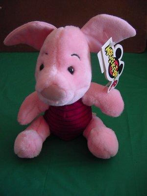 """Pooh Piglet Stuffed Plush Mouseketoys 8"""" Tag"""